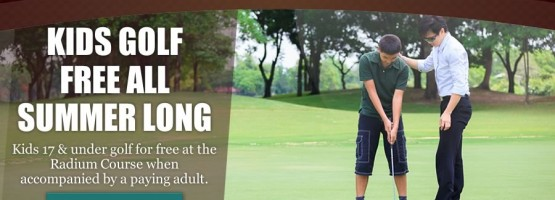 Kids Golf Free at the Radium Course