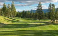 The scenic upper tee on the 2nd hole at Radium Course is open!