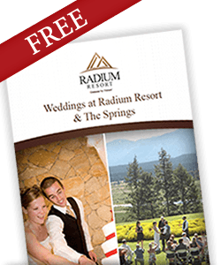 Radium Resort Weddings and Ceremonies
