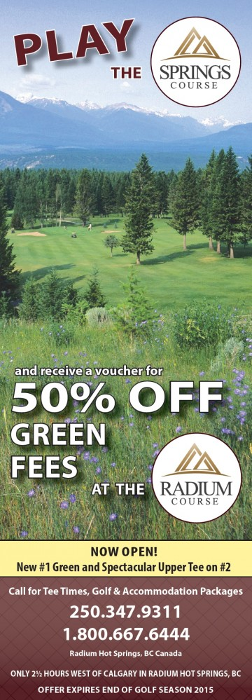 Save 50% on Radium Course Green Fees when you play the Springs Course