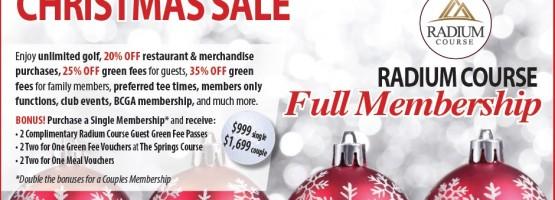 Radium Course Golf Memberships