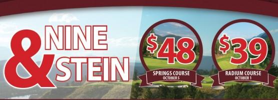 9 & Stein Golf Special