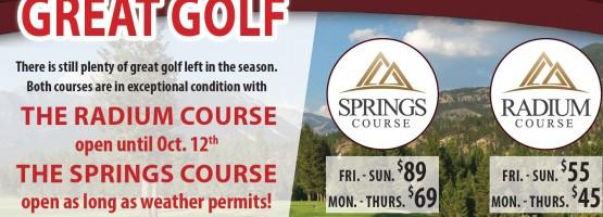 Great Fall Golf Specials