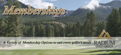Radium Course Golf Memberships