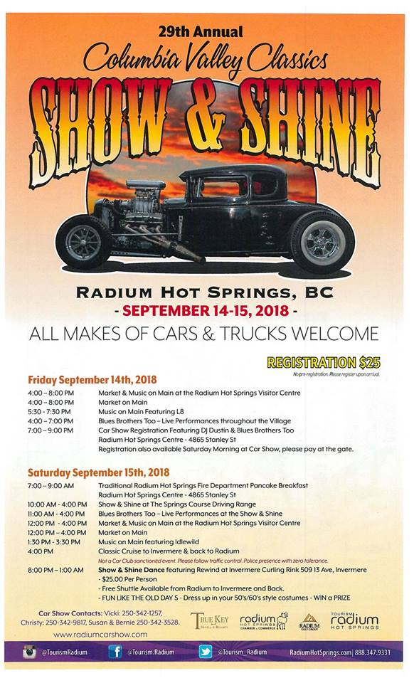 Columbia Valley Classics Show & Shine @ Various Locations